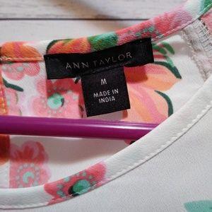 Ann Taylor Tops - 🎉 Ann Taylor white floral top